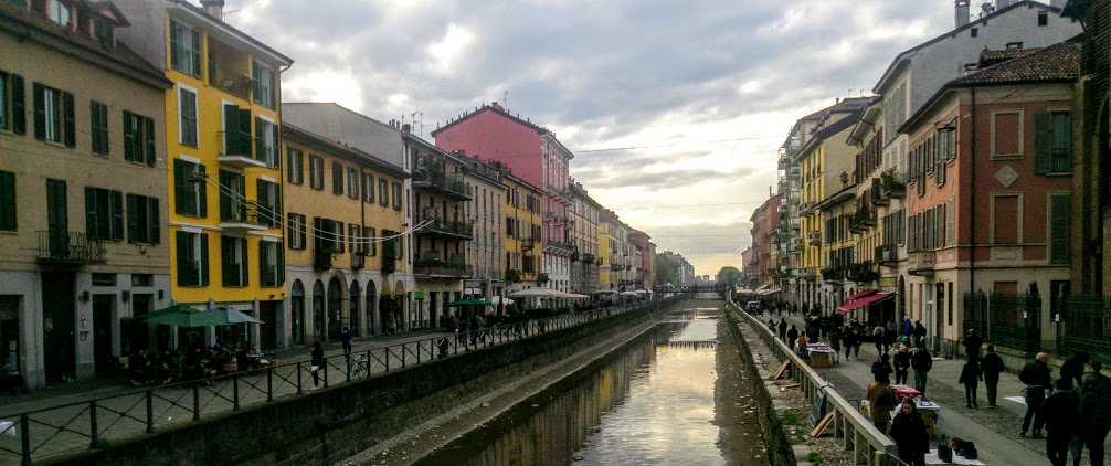 Naviglio canal district of Milan