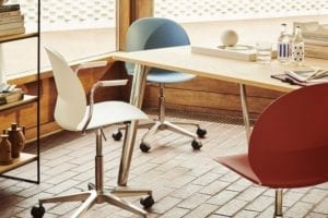 CHAPLINS N02 Recycled Swivel Office Chair by Fritz Hansen