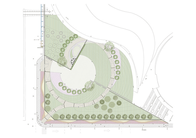 Green.  Work begins on completing the Alfa Romeo Park