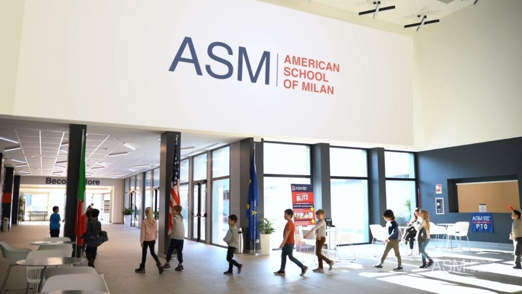 American School of Milan entrance hall