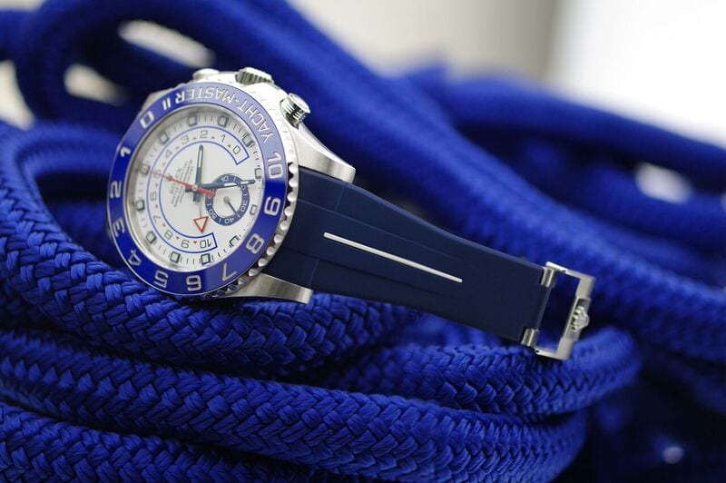 Rubber B Strap For Rolex Yachtmaster Ii 44mm Milanostyle
